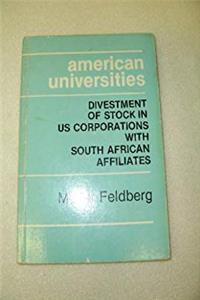 Free eBook American universities: Divestment of stock in US corporations with South African affiliates download